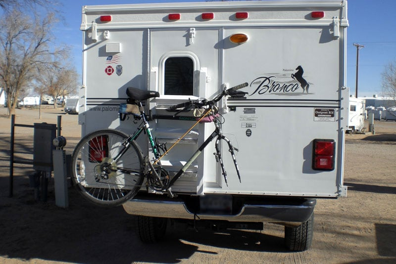Schwinn Montague Bicycles On Popup Camper