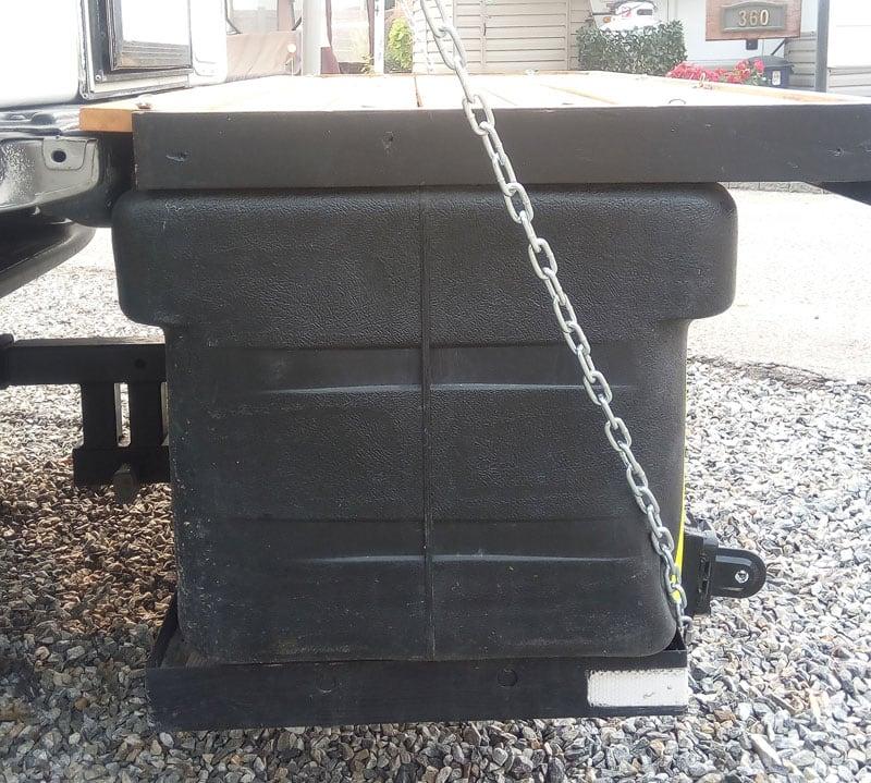 Storage Box Under Rear Deck