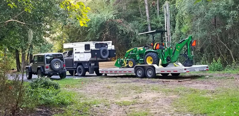 Towing A Tractor Four Wheel Camper