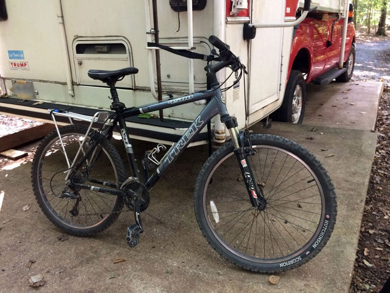 Trek 4500 Mountain Bike And Swagman Rv Ladder Rack