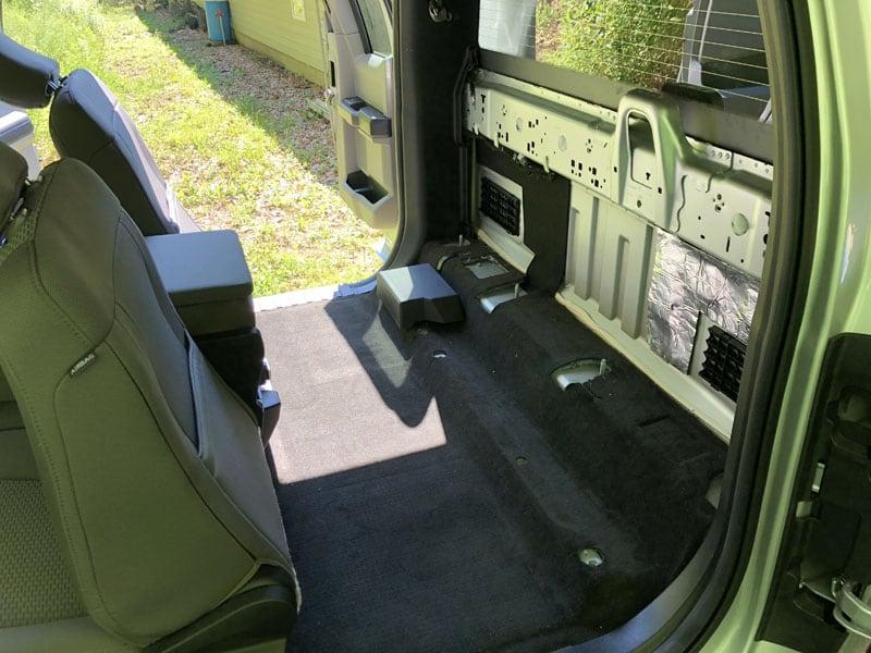 Truck Storage Seat Removed