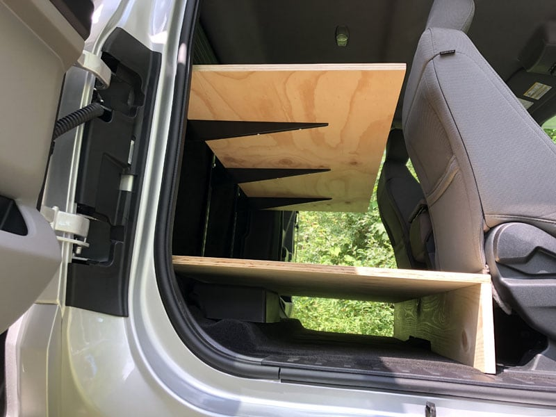 Truck Storage Shelf Detail