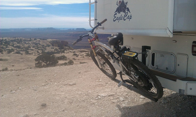 Electric Bike On Custom Rear Rack