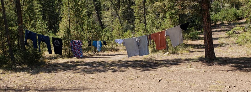 Hanging Clothes At Campground