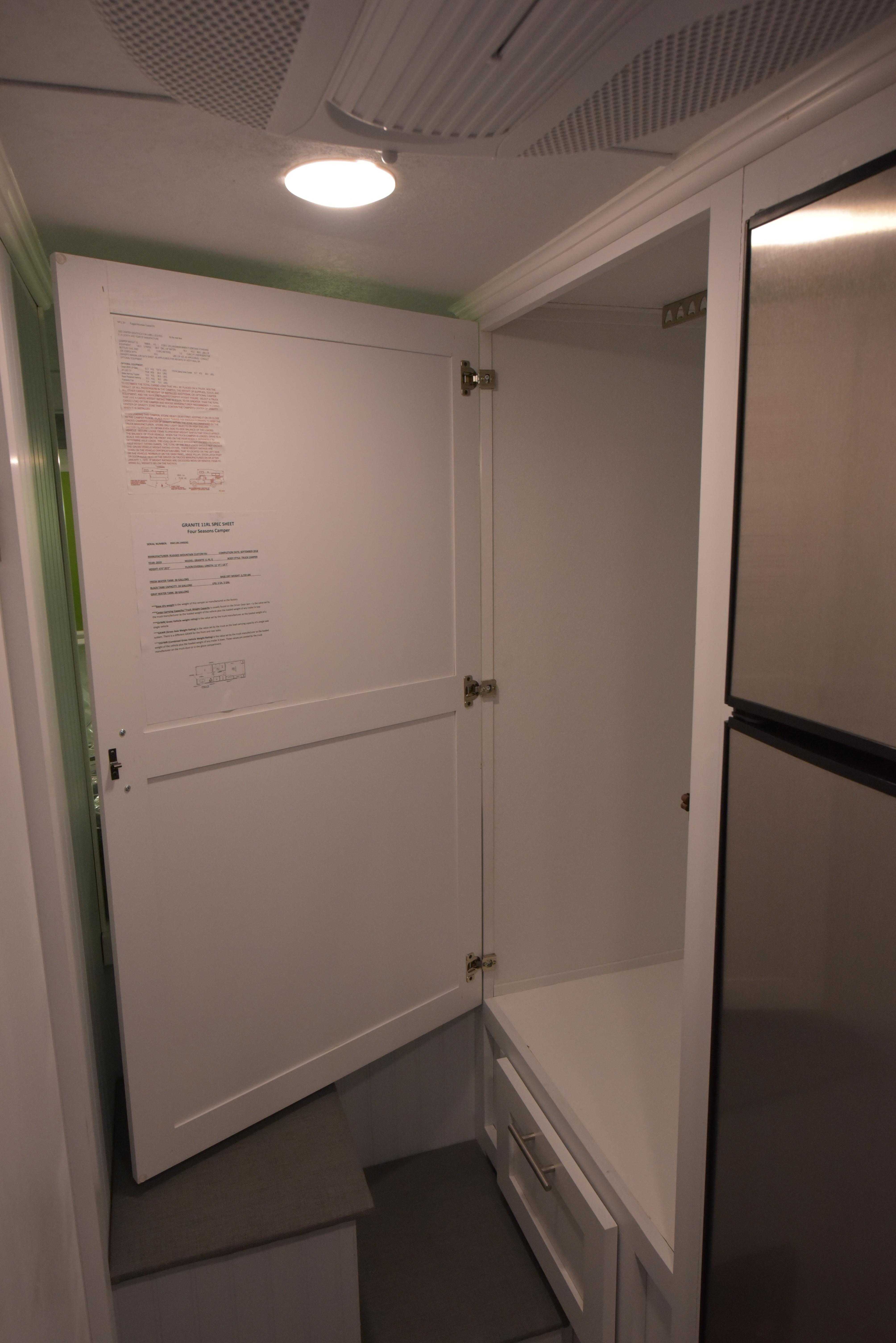 2019 Granite 11RL Closet Door
