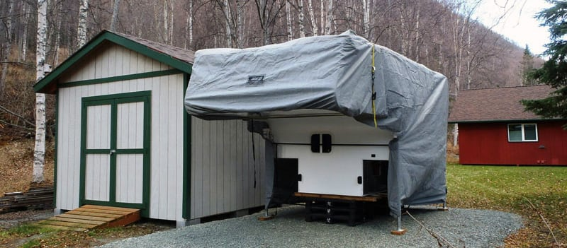 Adco AquaShed Camper Cover Winterize