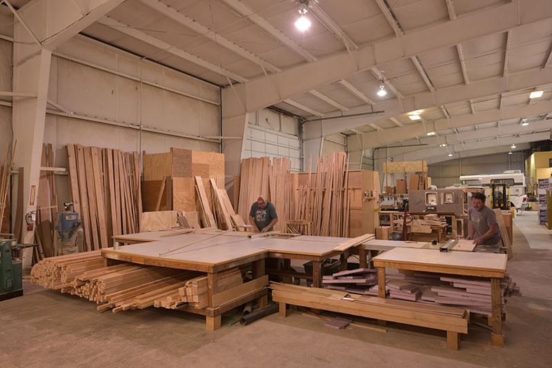Alaskan Campers Winlock Wide Interior Wood Shop