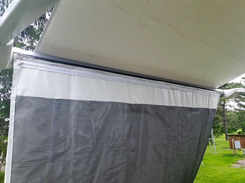 Awning Extension Zippered Together