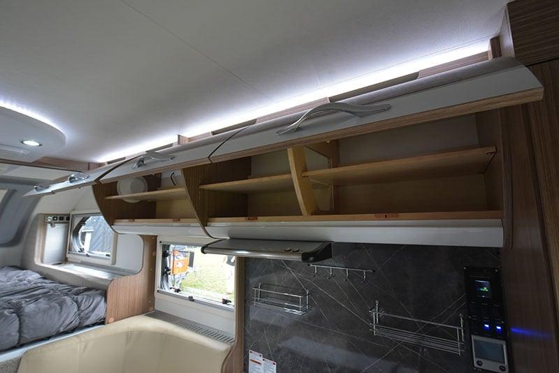 Cirrus 670 Interior Kitchen Upper Storage Detail