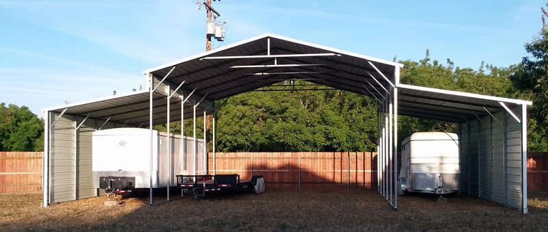 Four Bay Metal Carport For RV Use