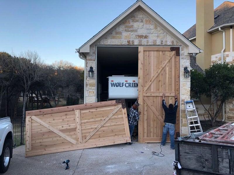 Garage Being Built OShaughnessy 2