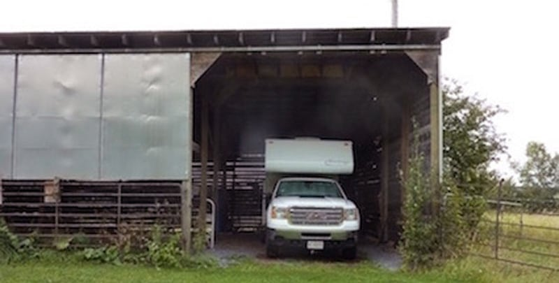 Hay shed To Protect Camper