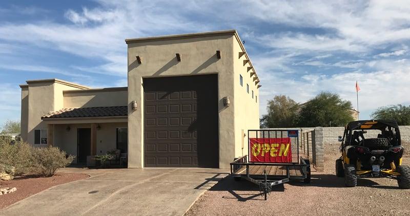 Quartzsite RV Garage Houses