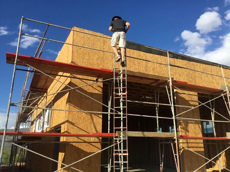 RV Garage In Construction