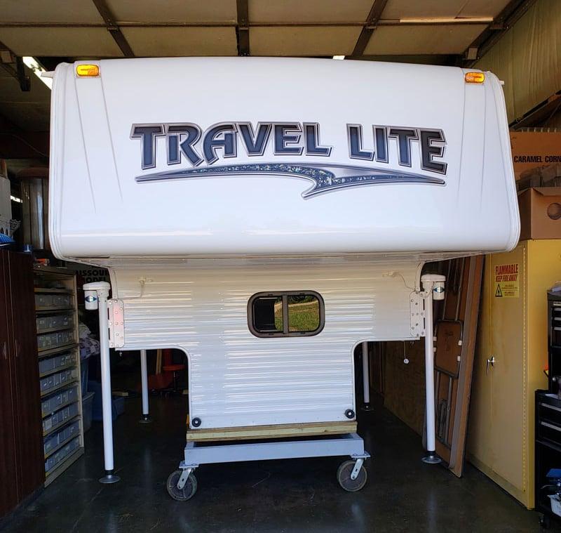Travel Lite Camper In Garage
