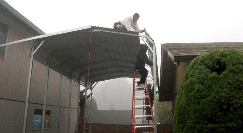 19 Portable And Permanent Rv Shelters For Campers 5