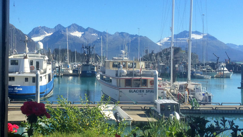 Out The Window Of Restaurant Into Valdez Harbor