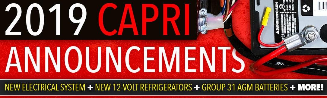 2019 Capri Camper Updates
