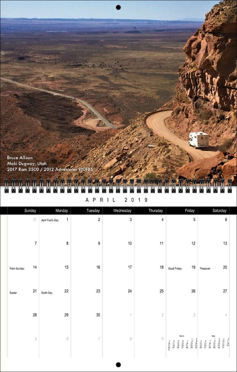 2019 TCM Calendar April