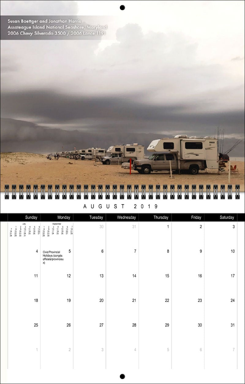 2019 TCM Calendar August