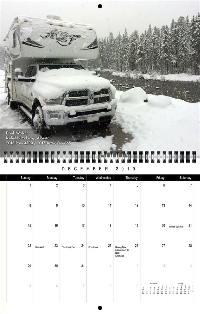 2019 TCM Calendar December