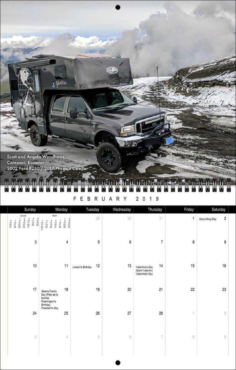 2019 TCM Calendar February