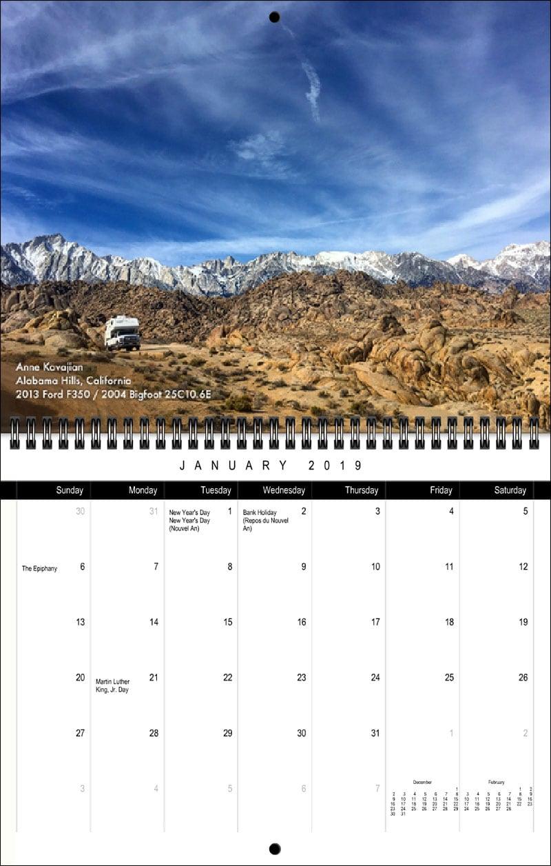2019 TCM Calendar January