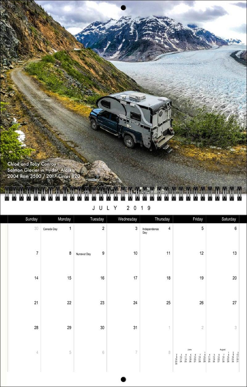 2019 TCM Calendar July