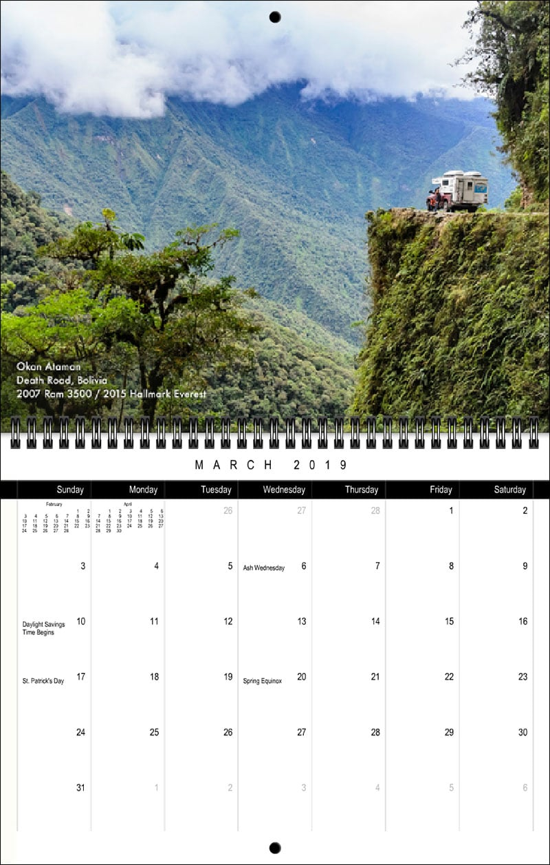 2019 TCM Calendar March