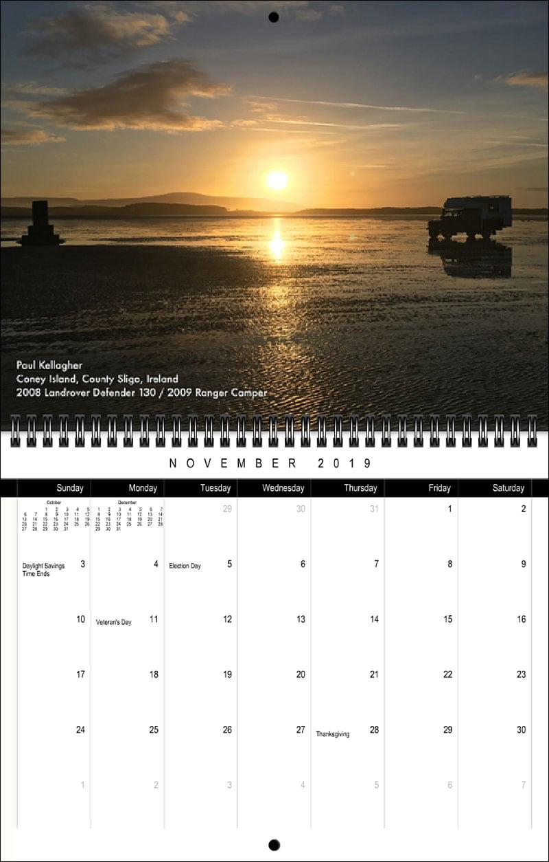2019 TCM Calendar November