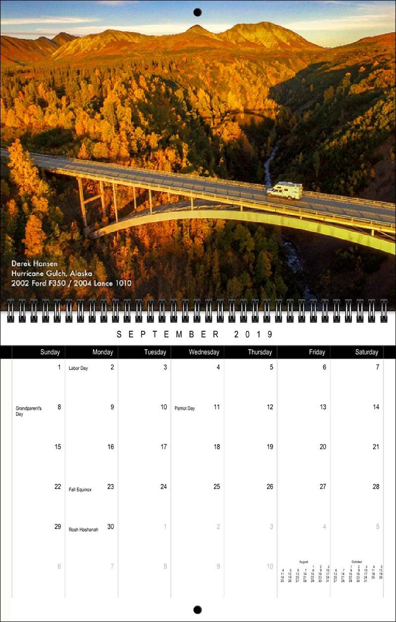 2019 TCM Calendar September