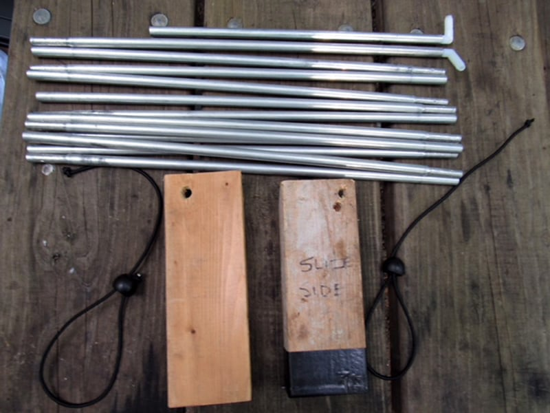 Cabover Storage Area Tent Poles