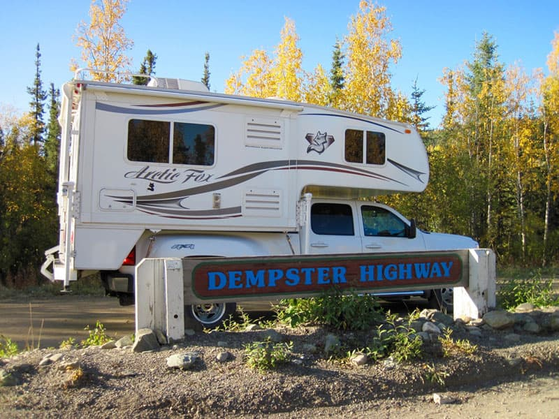 Dempster Sign With Camper