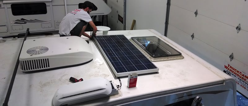 Eagle Cap 850 Solar Panel Installed