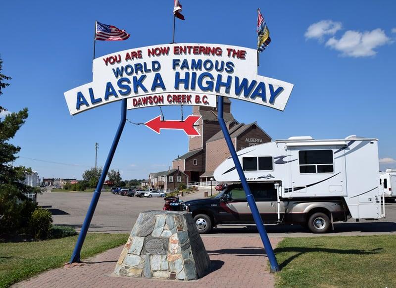 Famous Alaska Highway Sign
