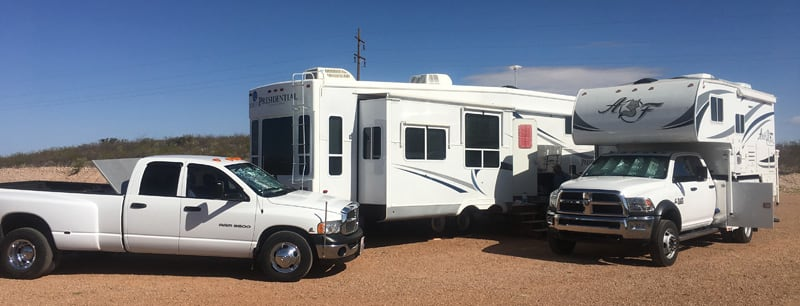 Fifth Wheel And Truck Camper