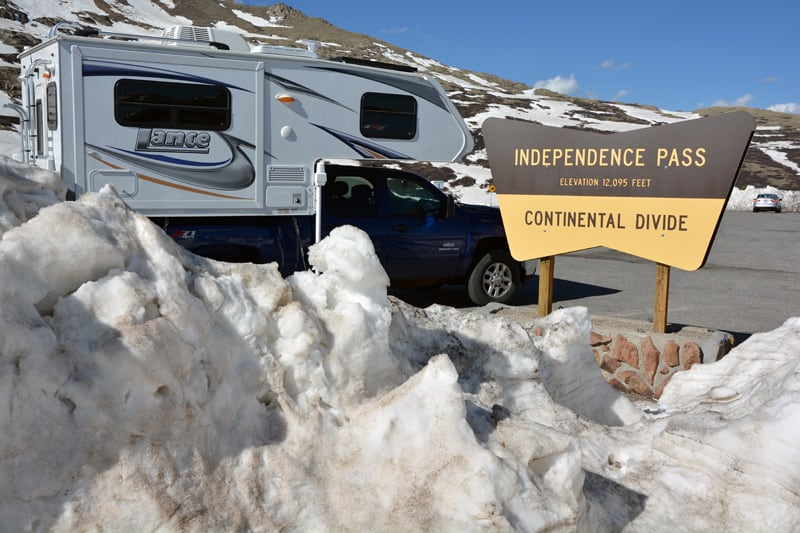 Independence Pass in Colorado, Continential Divide