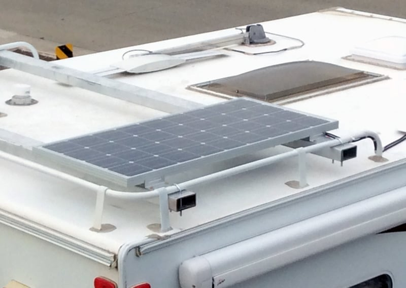 Okanagan 89WS Solar On Roof Rack