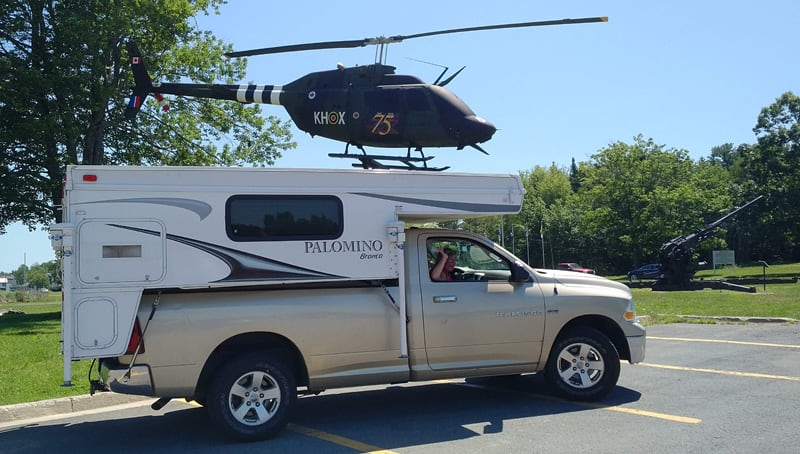 Palomino Camper With Knox Helicopter