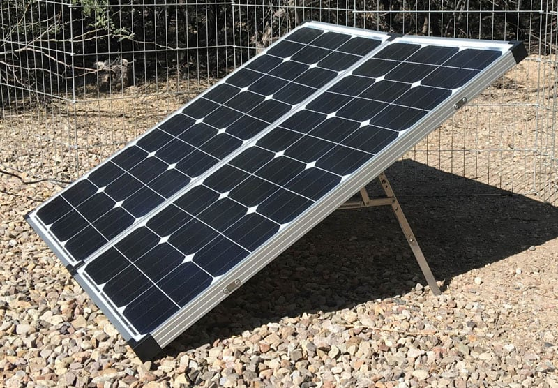 Portable Solar Panel On Ground