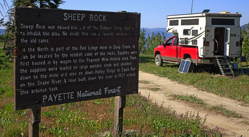 Sheep Rock Payette National Forest