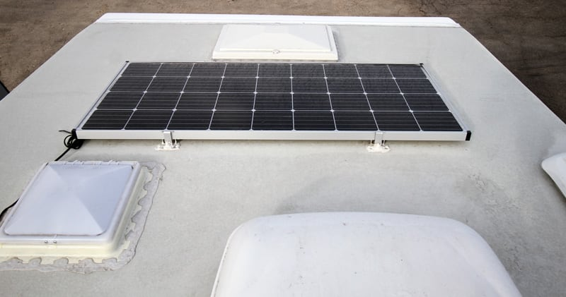 Solar And PVC Roof Rugged Mountain