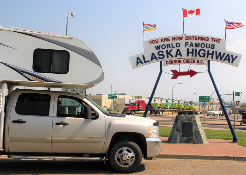 Start Of The Alaska Highway Sign Rhodes