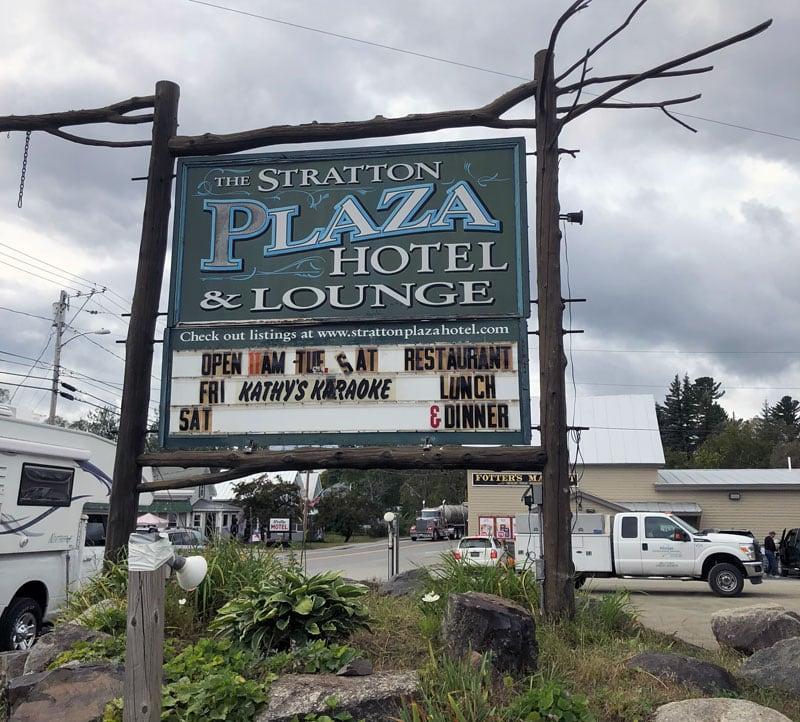 Stratton Plaza Sign Maine
