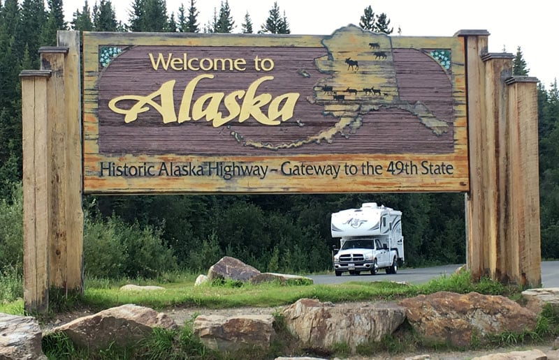 Welcome To Alaska Sign Arctic Fox