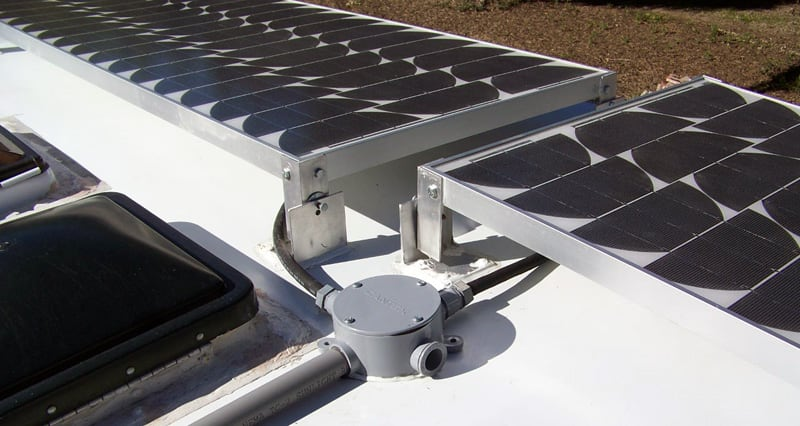 Solar Panel Port On Roof