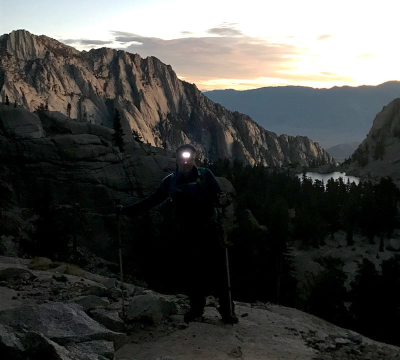 Hiking In The Dark To Mt Whitney