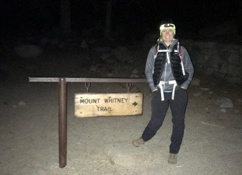 Melanie On Trail In Dark