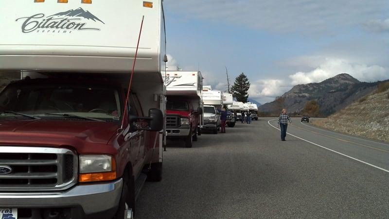 Truck Camper Caravan In Washington