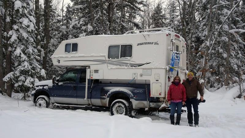 Winter Camping Using Plumbing